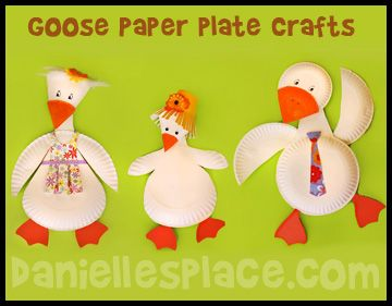Paper Plate Goose or Duck Craft for Kids from www.daniellesplace.com