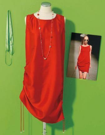 Näh-Anleitung Gerafftes Kleid im Look von Hamilton  copyright: Jalag Syndication