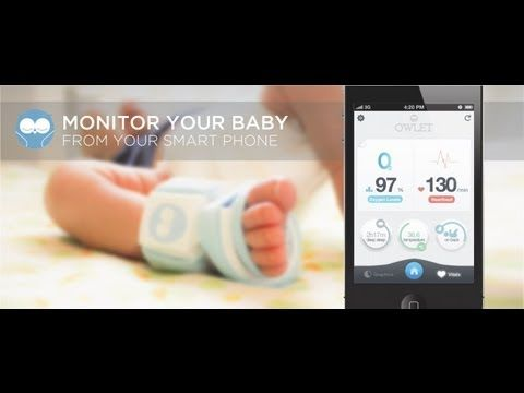 Owlet baby vitals monitor sock Uses pulse oximetry to