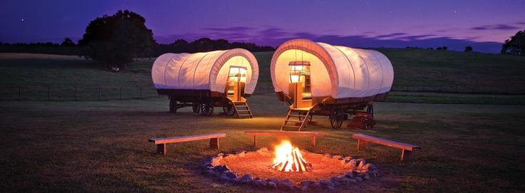 Conestoga wagon camping at Rock Ranch in The Rock, GA. http://www.exploregeorgia.org/Georgia/Attractions/Conestoga-Campings-at-Rock-Ranch/Photos/52421