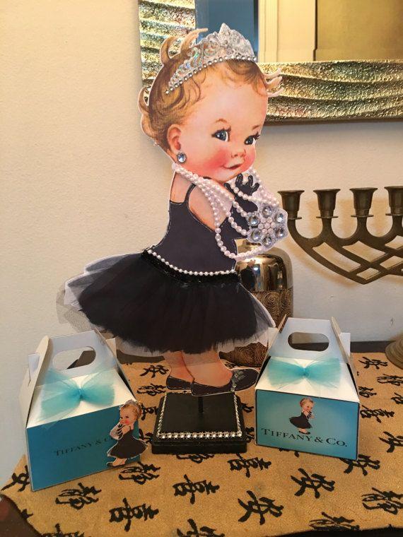 1  breakfast at Tiffany's baby girl centerpiece