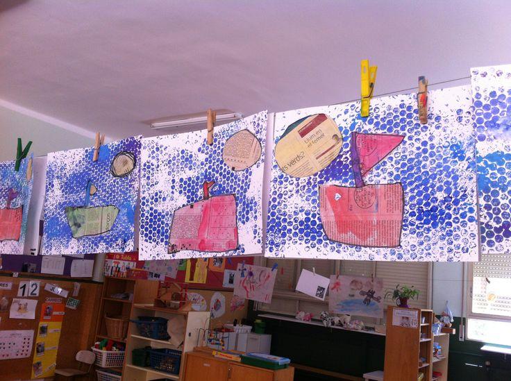 PORTADA D'ESTIU. Paper de diari i plàstic amb bombolles