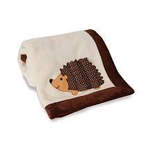 Hedgehog blanket/ woodland creature nursery/ Lambs and Ivy Echo Blanket