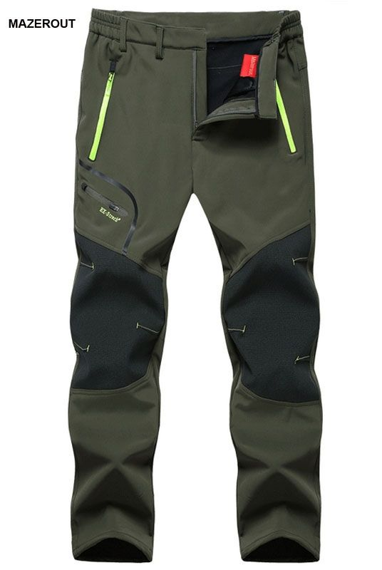 26.91$  Buy here - http://ali2c4.shopchina.info/go.php?t=32749083320 - MAZEROUT Man Winter Fishing Waterproof Camping Trekking Warm ourdoor Trouser Hiking Travel Sports Softshell Fleece Pant Belt 5XL  #bestbuy
