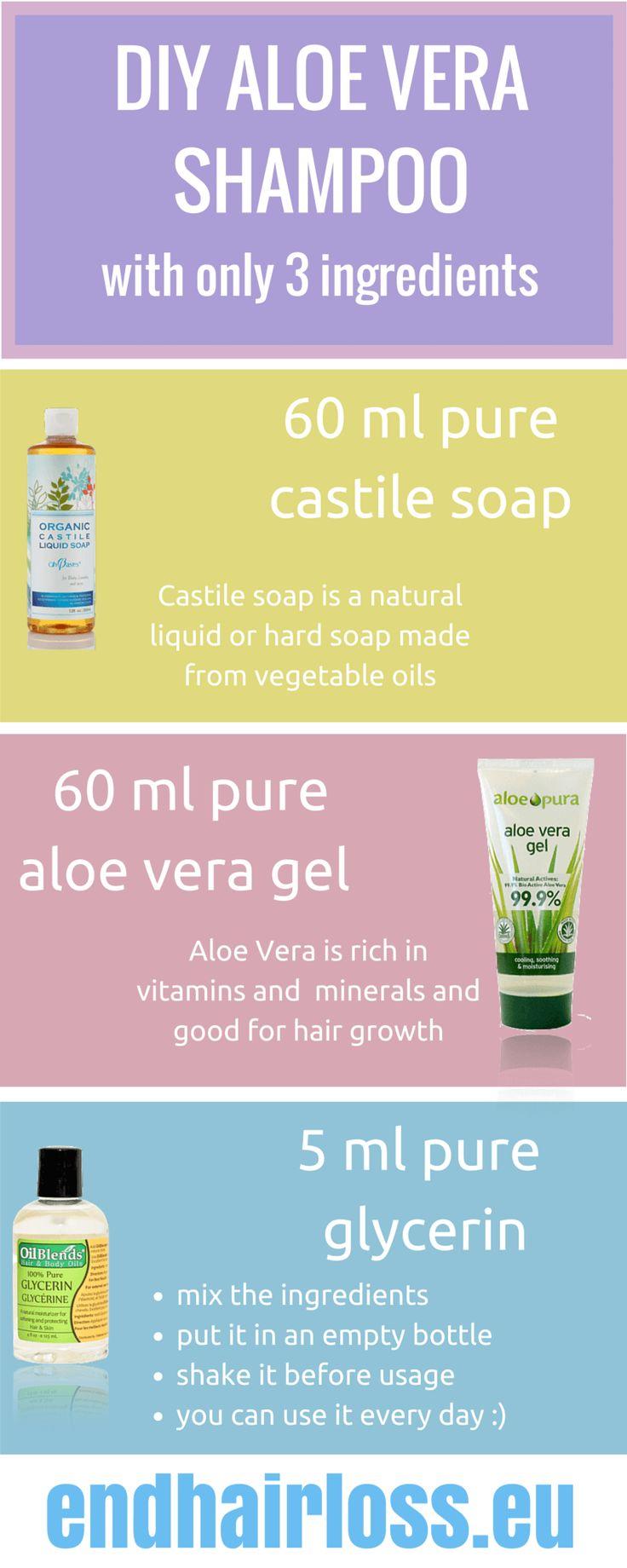 diy aloe shampoo, very easy!