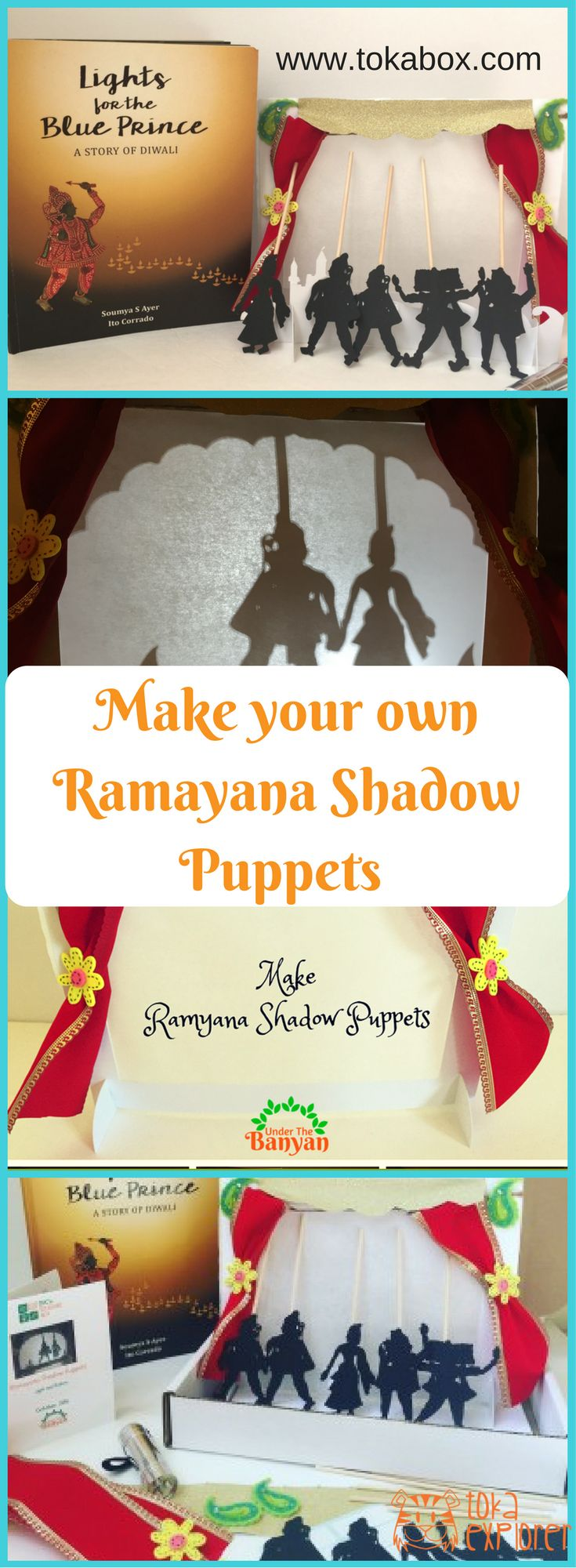 Diwali Craft ideas for kids! Make this super fun Ramayana Shadow puppet and encourage kids to tell the epic in a way they understand best. http://www.tokabox.com/tokaseries#celebrate