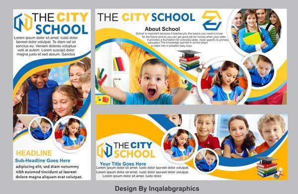 3 Best School Banner Free Vector Templates Psd And Cdr File Schools Design Art Banner Free Download School Banner School Brochure Education Poster Design