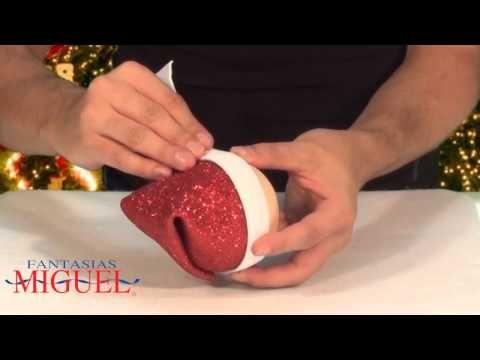 Fofucho Papá Noel, Santa Claus, San Nicolás,Adorno Navideño con Moldes - YouTube