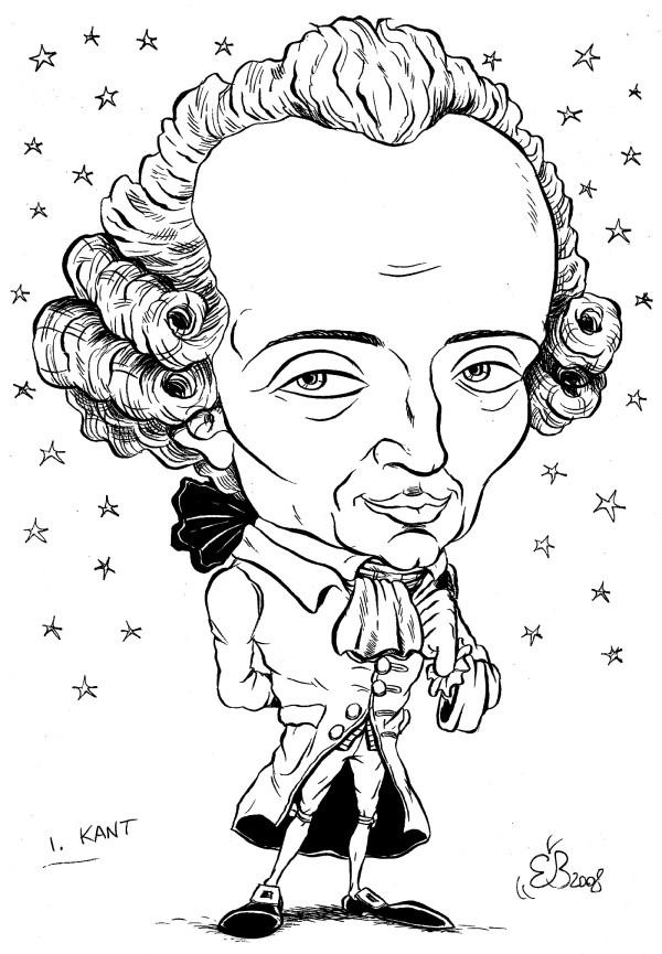 immanuel kant in caricature