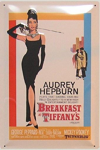 Desayuno con Diamantes, #Cartel #Cine Metálico  19.95 €