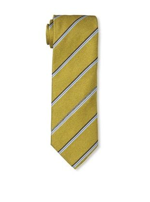 Moschino Men's Logo Striped Tie, Yellow