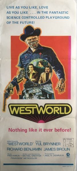 Westworld original vintage 1973 Australian Daybill film poster, available from my website.