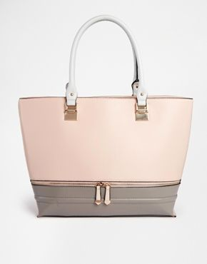 New Look Colour Block Tote Bag