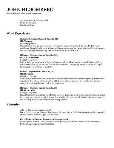 The 25+ best Chronological resume template ideas on Pinterest - ats friendly resume