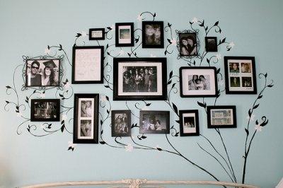 Family tree, Photo wall