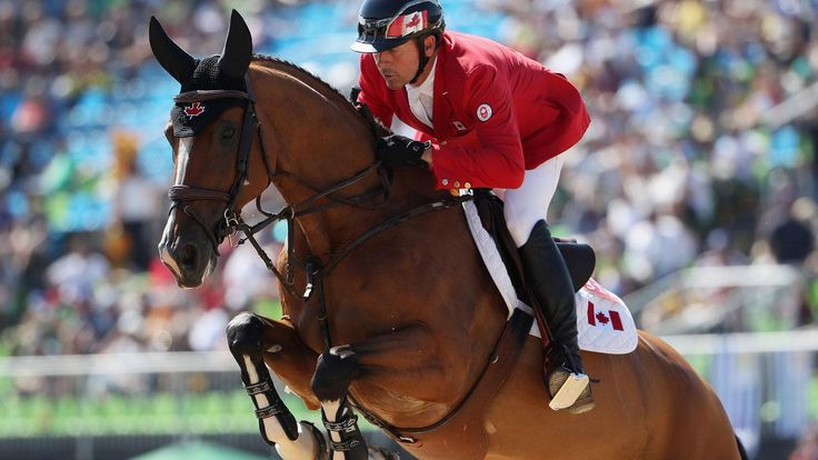 Rio 2016: Eric Lamaze with Fine Lady 5 at the Olympic Games on August 14, 2016.