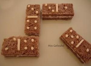Domino tiles sandwich #brood #kinderen #bento