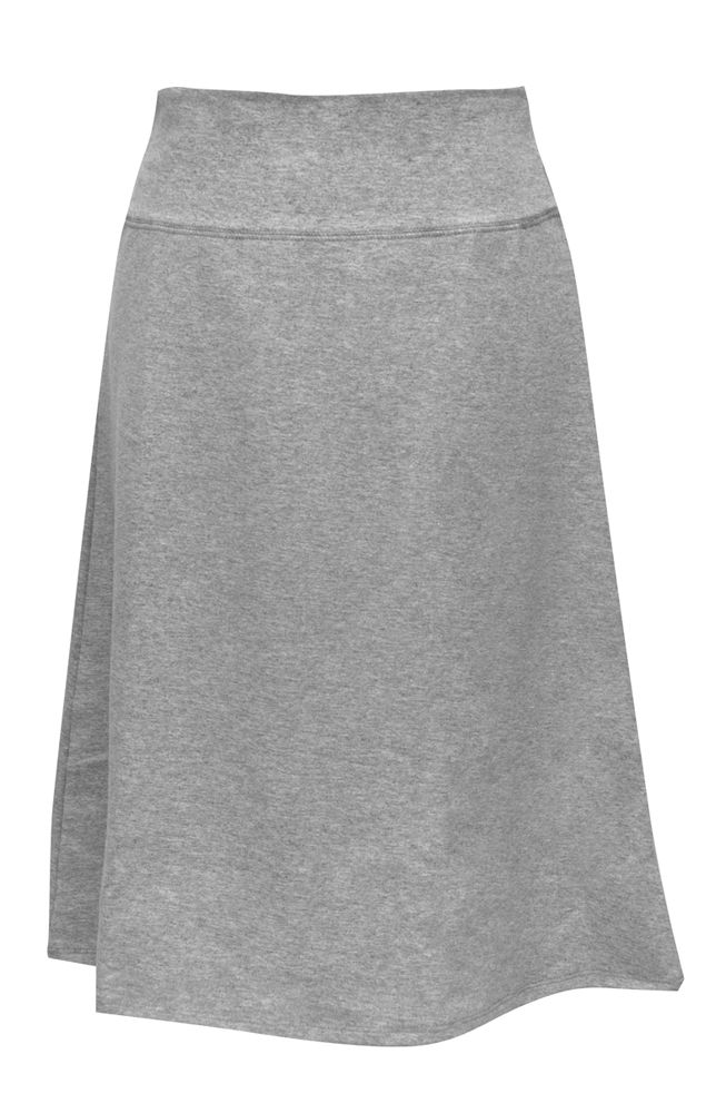 Sports Skirt Slight A-Line Lyrca Skirt $24 from Kosher Casual. Wear with leggings if desired for extra modesty. Available in dark blue, black, and heather grey