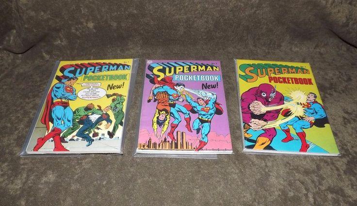 Lot (3) 1978 Superman Pocketbook #1 #2 & #3..ALL Unread In Plastic..Very Fine++