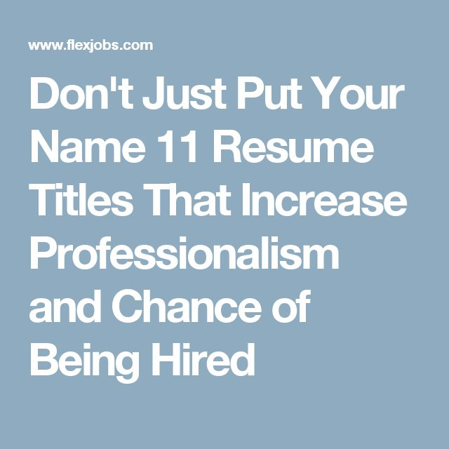 93 best Career Goals images on Pinterest Career goals, Career - resume titles examples