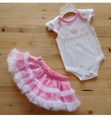 Tutu Set - White Princess - sadinashop.com  Setelan jumper dan rok tutu untuk bayi dan anak.