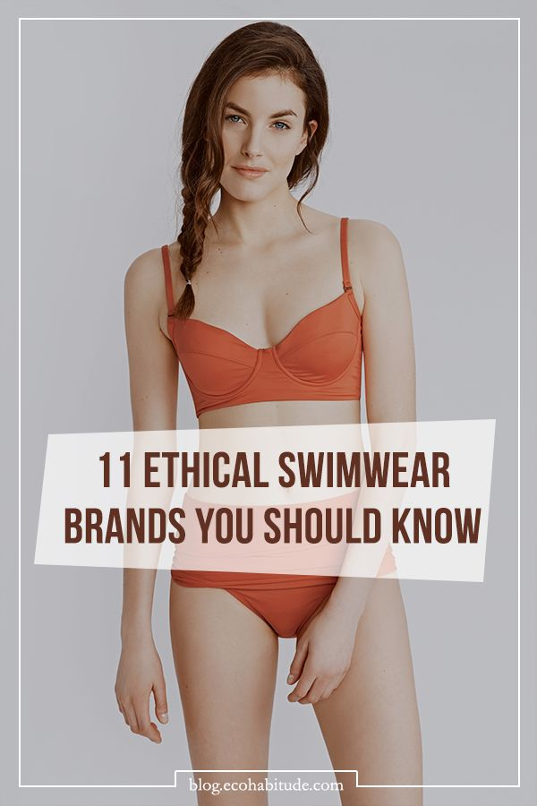 11 Sexy & Sustainable Swimwear Brands You Should Know About | View them all on the Ecohabitude Blog.