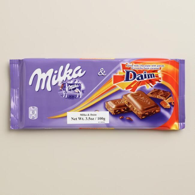 Milka Daim Almond Chocolate Bar