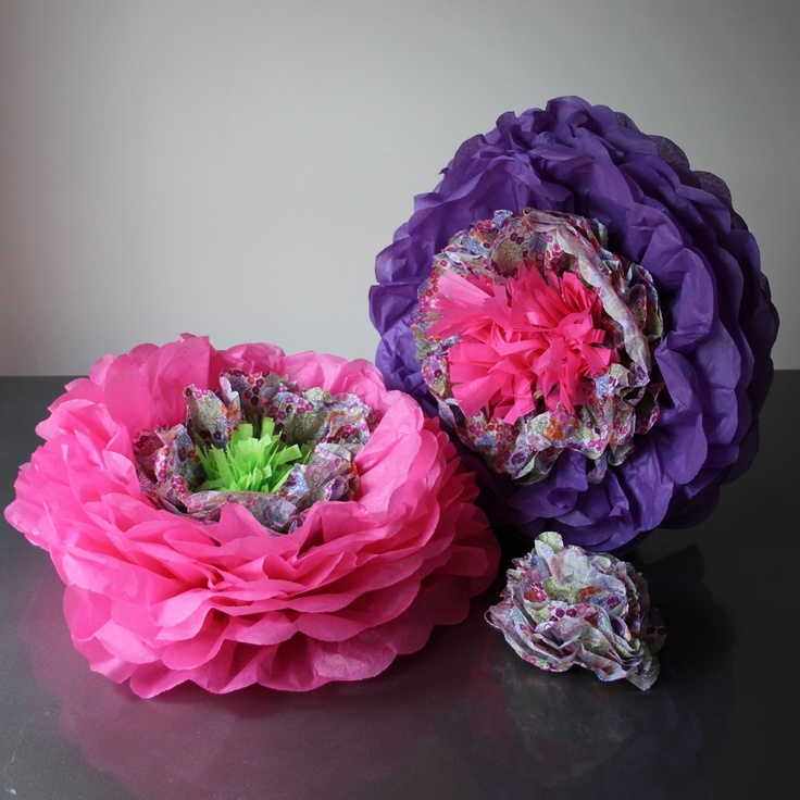 Pearl and Earl - Giant Double Head Bloom - Purple Florals, £20.00 (http://www.pearlandearl.co.uk/giant-double-head-bloom-purple-florals/)