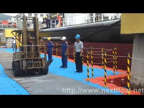 It is a short movie clip how we operate heavy machine pathway on the NEXT FLOAT. 넥스트 플로트위를 지나는 지게차 (5톤)에 대한 동영상입니다.