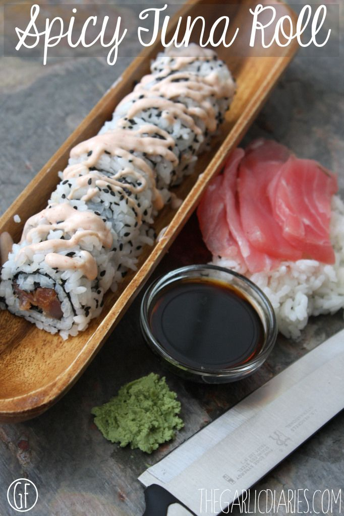 Spicy Tuna Roll made with Greek Yogurt filling. Yep, you read that right.