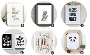 18 láminas de alta resolución para listas para imprimir y decorar
