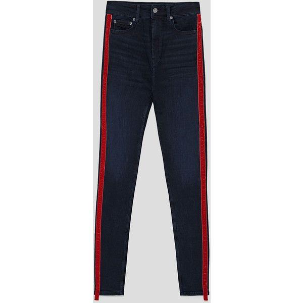 JEANS HIGH WAIST ESTILLA BLUE - Ver todo-JEANS-MUJER   ZARA España ($35) ❤ liked on Polyvore featuring jeans, blue jeans, high waisted jeans, highwaist jeans, high-waisted jeans and high rise jeans