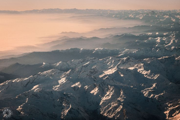 Flying Over the Alps (From Milan to Paris AZ 350)