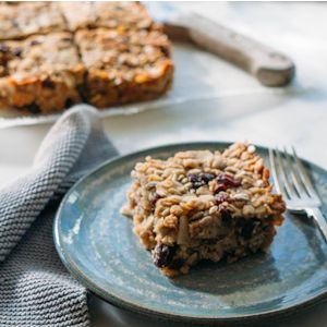 Healthy Flapjacks by Niamh Browne. | A wheat-free and dairy-free treat.