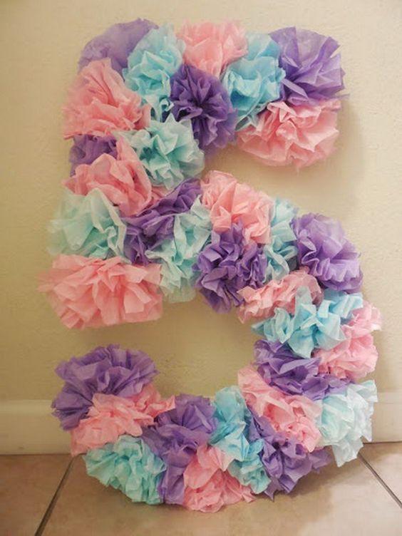 Pinata für Mädchen in Form von Nummer (3) – Diy gifts birthday