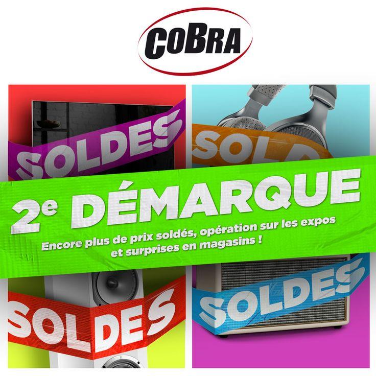 La 2ème démarque vous attend dans les magasins Cobra.fr ! Toujours plus de prix soldés accompagnés d'une opération spéciale sur les produits d'expo !  #Soldes2018 #SoldesHighTech #Hightech #Multimédia #BonsPlans #Promotions #Promos #BonnesAffaires #Audio #TVImage #HiFi #Cobrason #CobraFr
