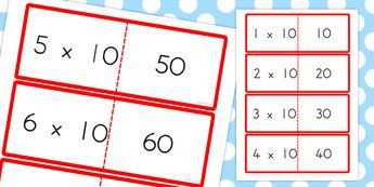 10 Times Tables Cards - australia, times tables, cards, 10, times