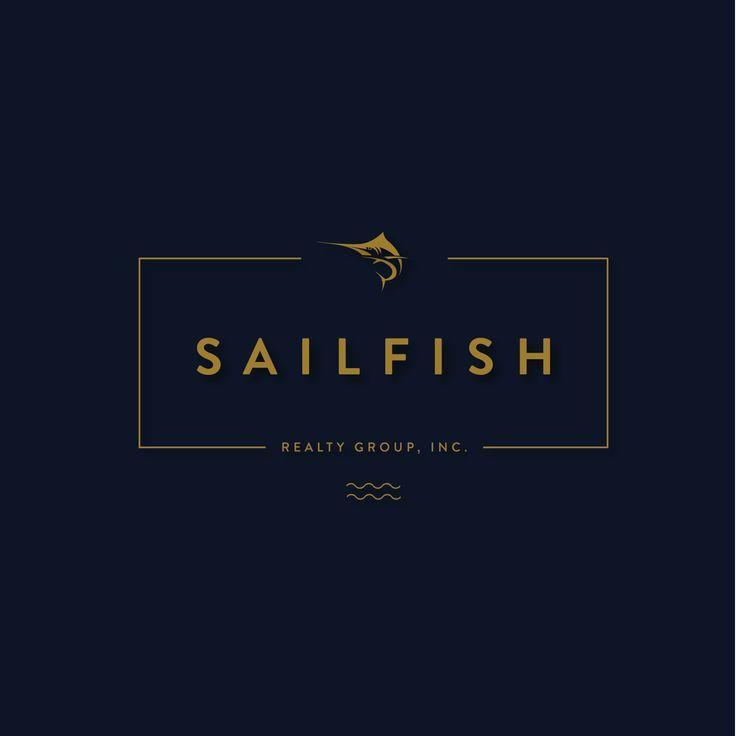 Logo for a Real State Agency #logo #brand #branding #design #designer #typography #love #fresh #sharp #cool #awesome #amazing #sailfish #marlin #realestate #florida #gold #deepblue #blue
