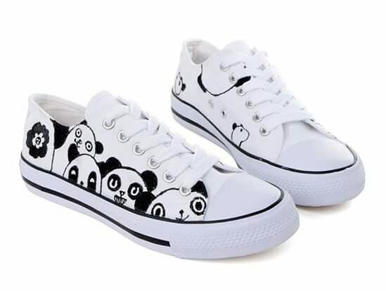 Pandas, Tennis, Kawaii, Zapatos, Tennis Sneakers, Kawaii Cute, Panda, Panda  Bears, Sneaker
