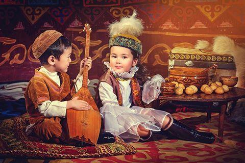 Türk Kazak Çocuklar..