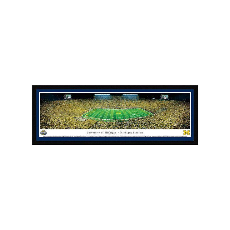 Michigan Wolverines Football Stadium 50-Yard Line Framed Wall Art, Multicolor