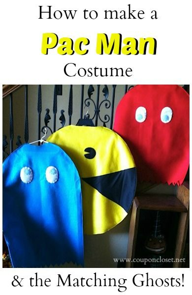 How to Make a Pacman Costume and Matching Ghost Costumes