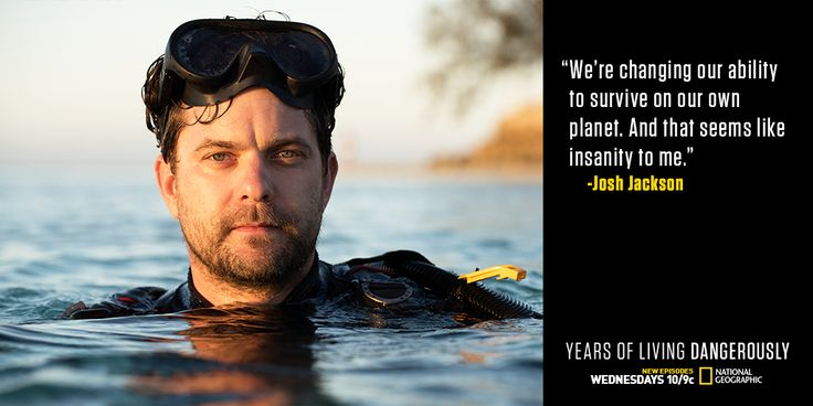 """yearsoflivingdangerously: """"TONIGHT, in an all-new episode of Years of Living Dangerously, Joshua Jackson investigates the impacts of climate change on our world's oceans. WATCH at 10/9c on National Geographic Channel & live tweet with us with hashtag..."""