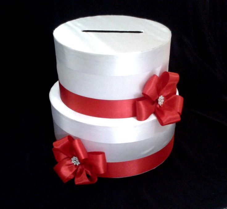 CA_156 Caja para Sobres #15años #bodas Blanca Roja | Cajas ...