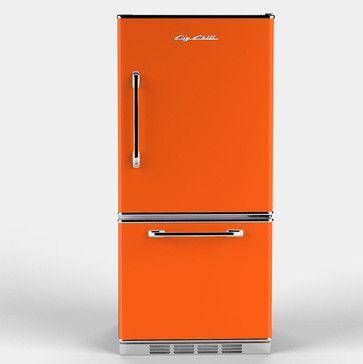 Retropolitan Fridge, Orange - eclectic - refrigerators and freezers - Big Chill