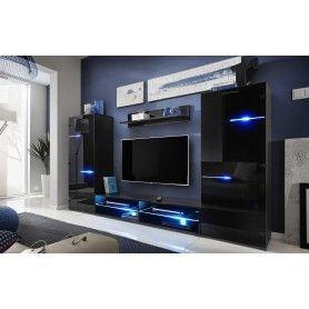 Ensemble Meuble TV Modern Référence  AMC-006  État :  Nouveau  Fantastique ensemble de salon meuble TV moderne, de couleur noir.