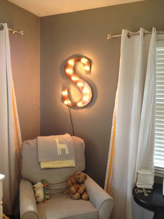 Night Light Letter Wall Hanging By Westvintagetradingco Km Fixtures Room