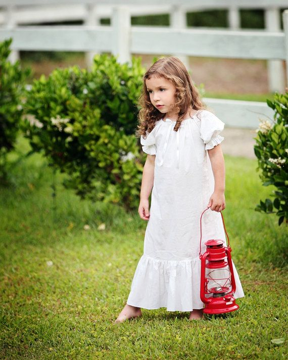 Vintage White Cotton Nightgown Available In Sizes 6m 12