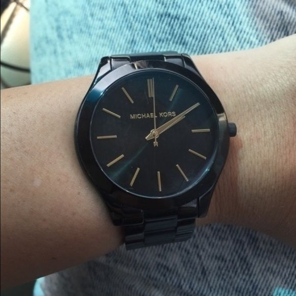 Michael Kors Watch Black Michael Kors watch - 100% authentic. Use offer button for offers, not comment section please! Michael Kors Accessories Watches