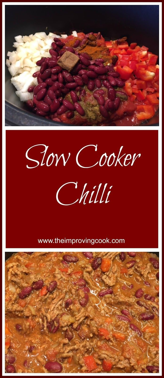 Slow Cooker Chilli- easy dinner recipe. Great for batch cooking and freezer meals.